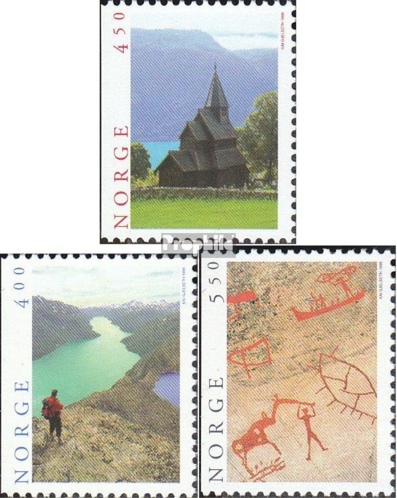 kompl.Ausg. 1996 Tourismus Briefmarken f/ür Sammler Prophila Collection Norwegen 1208Dl-1210Dl