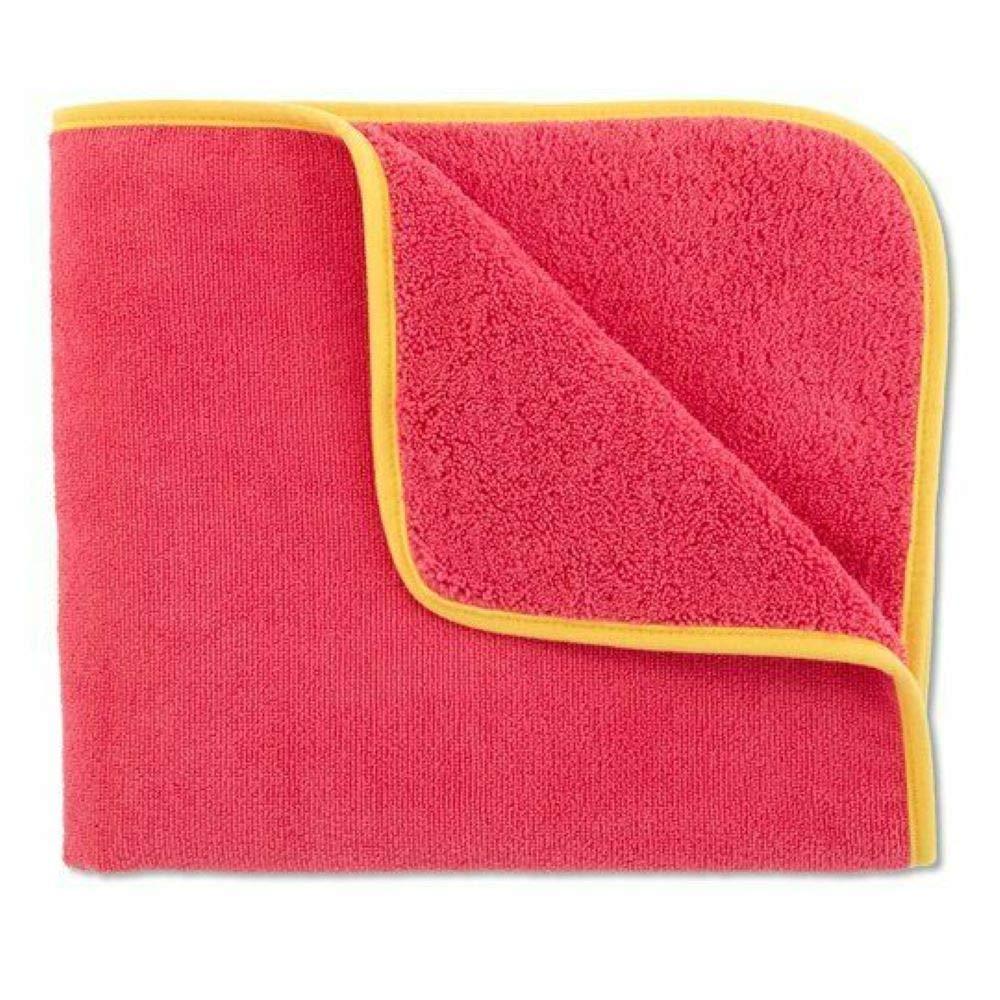 Norwex Kids Pink Bath Towel with Yellow Trim