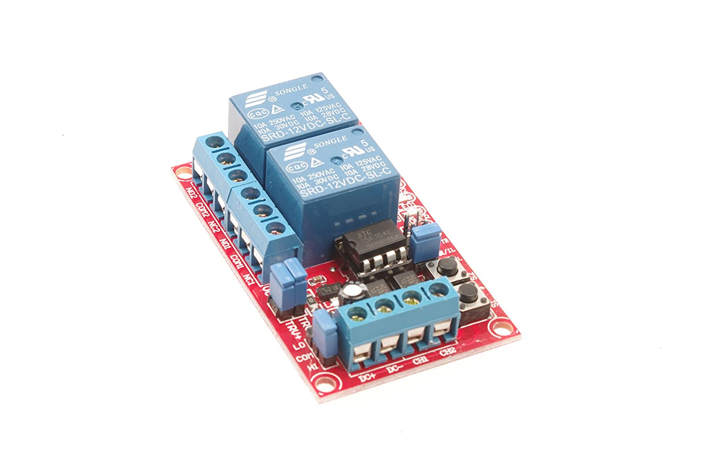 SMAKN® 12V 2-Channel Relay Module H/L Level Triger Self-Lock/Interlock for  Arduino Rasp
