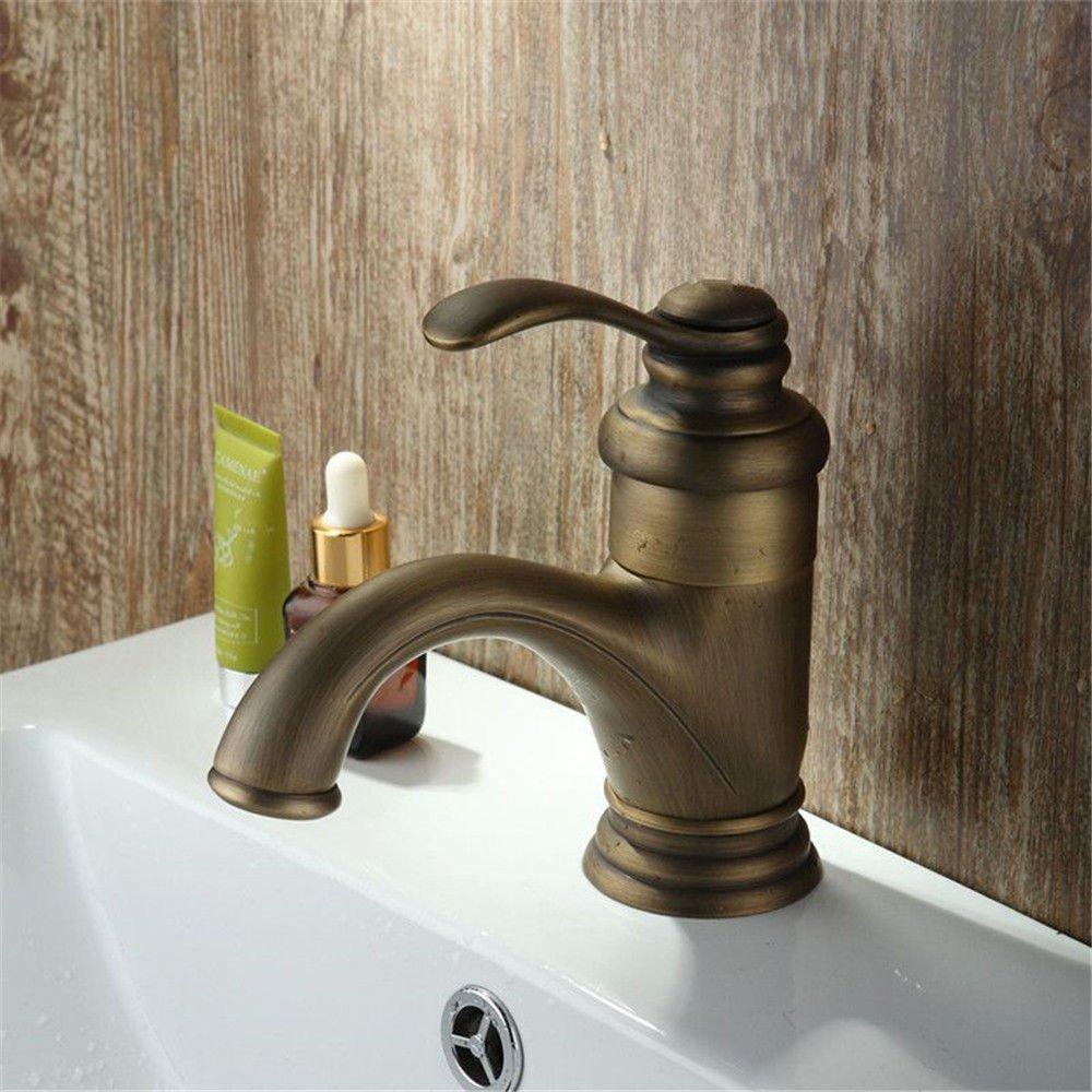 MEIBATH Waschtischarmatur Badezimmer Waschbecken Wasserhahn Küchenarmaturen Warmes und Kaltes Wasser antiken Einhebelsteuerung Küchen Wasserhahn Badarmatur