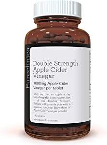 Double Strength Apple Cider Vinegar 1000mg x 180 Tablets (6 Months Supply) SKU: AV3