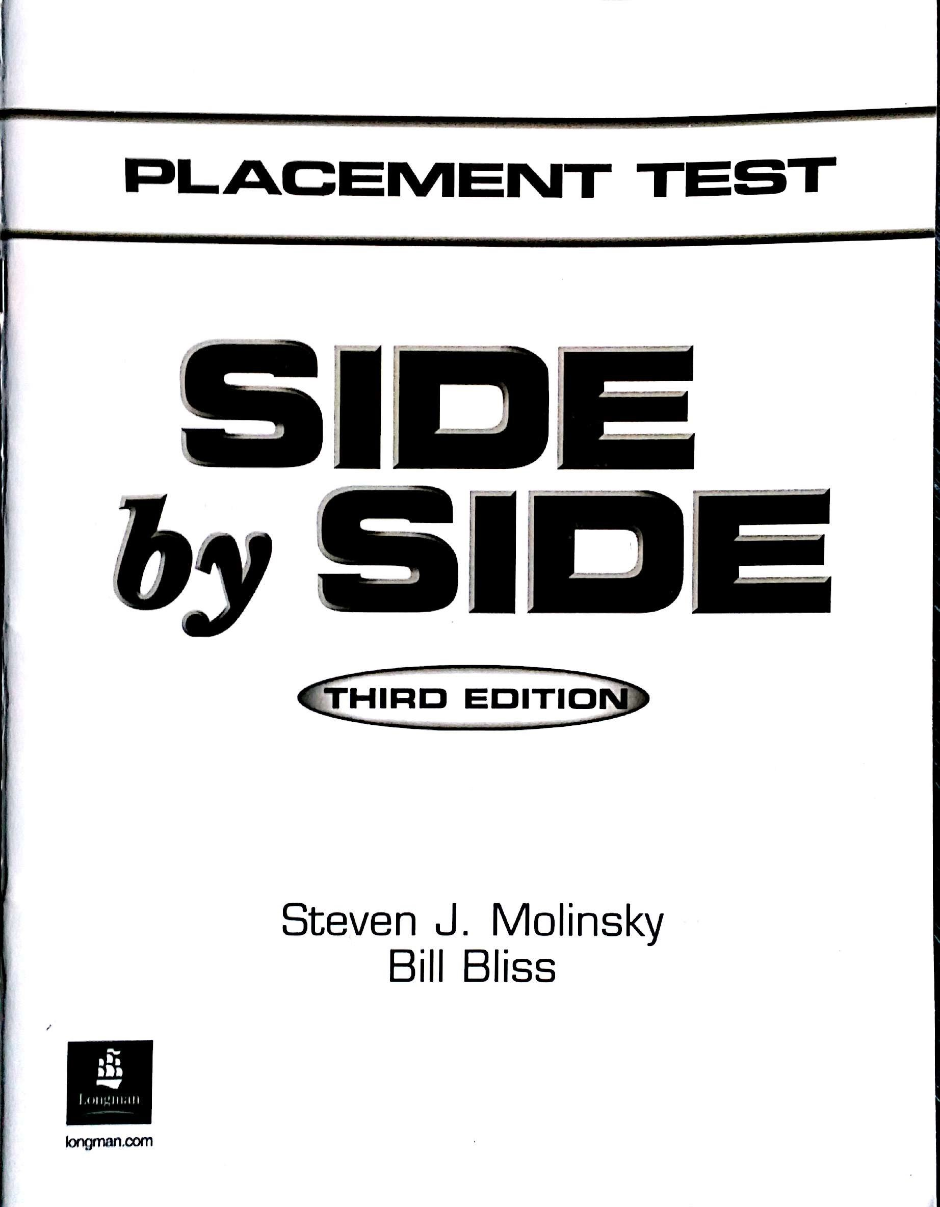 Side by Side: Placement Test: Steven J. Molinsky: 9780130270023:  Amazon.com: Books