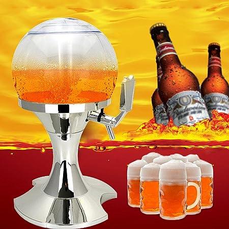 AOLVO Dispensador de Cerveza con Cubo de Hielo, 3, 5L Decorativo dispensador para Bar y Fiestas, Salida automático, Negro: Amazon.es