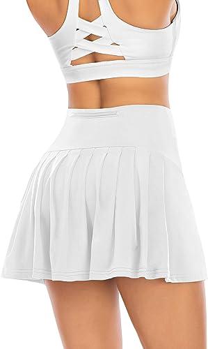 Details about  /Women/'s Comfortable Sports Short Polyester Mid-Waist Skirts Fitness Tennis Short