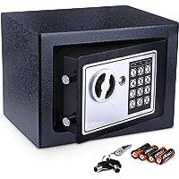Meykey Caja Fuerte Pequeña Caja Seguridad 230X170X170 mm