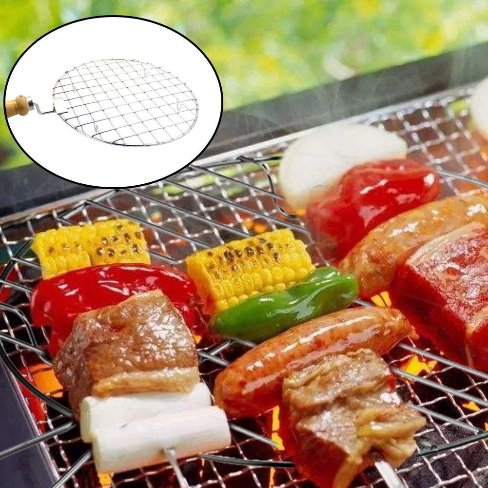 Pattern IndiaBigShop Large Stainless Steel Multi-Purpose Wire Steaming Cooling and Baking Barbecue Rack