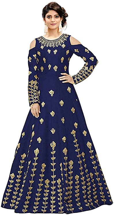 Buy Salwar Style Women S Gown Specially Designed Bh2135 Navy