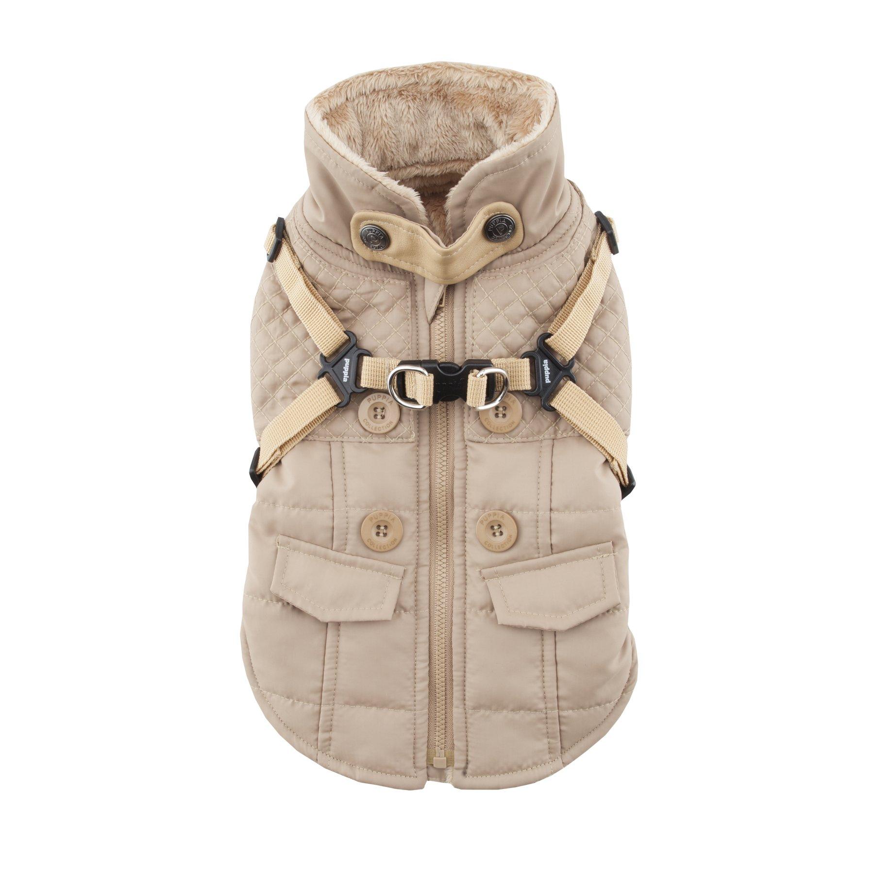 Puppia Wilkes Winter Fleece Vest, Large, Beige by Puppia