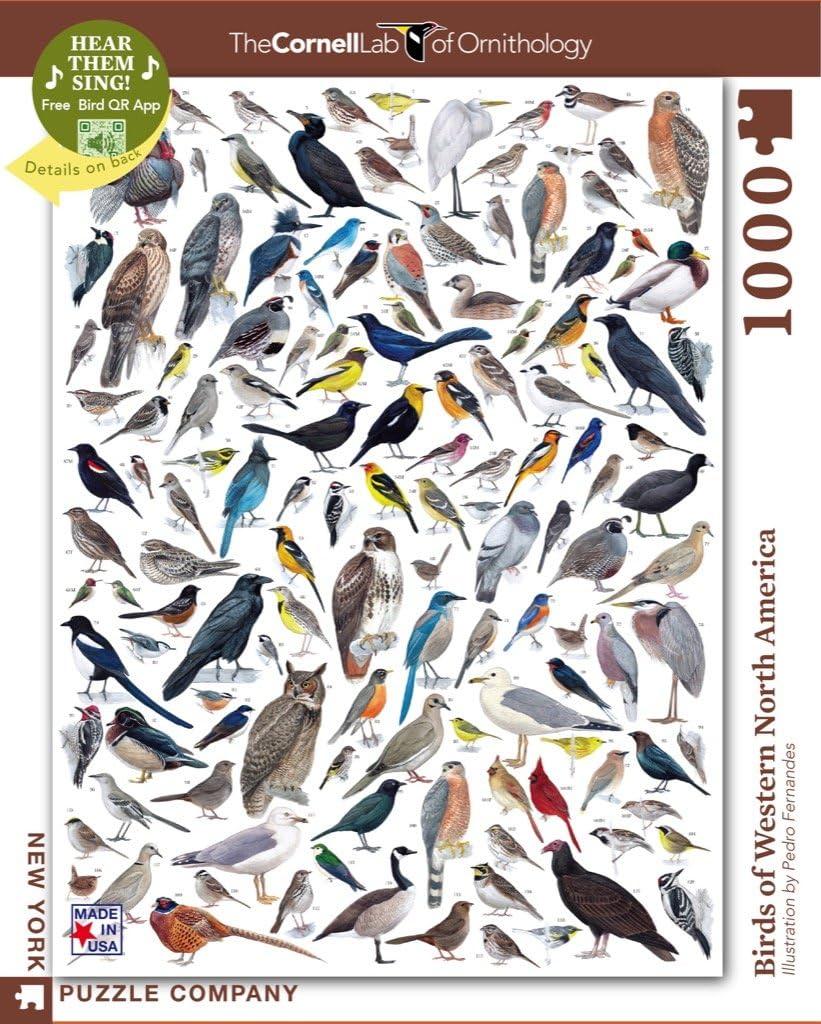 New York Puzzle Company - Cornell Lab Birds of Western North America - 1000 Piece Jigsaw Puzzle
