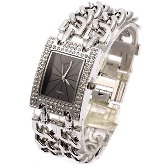 Amazon.com: Luxury Women Wristwatches Quartz Watch Gold Relogio Feminino Dress Watch Relojes Mujer Lady Clock Gifts Jelly,Silver and Black A: Cell Phones & ...