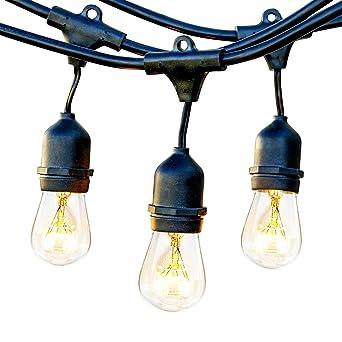 Guirnalda Luces Exterior, ECOWHO 10M Cadena de Luz E27 Base para Jardines, Casas,