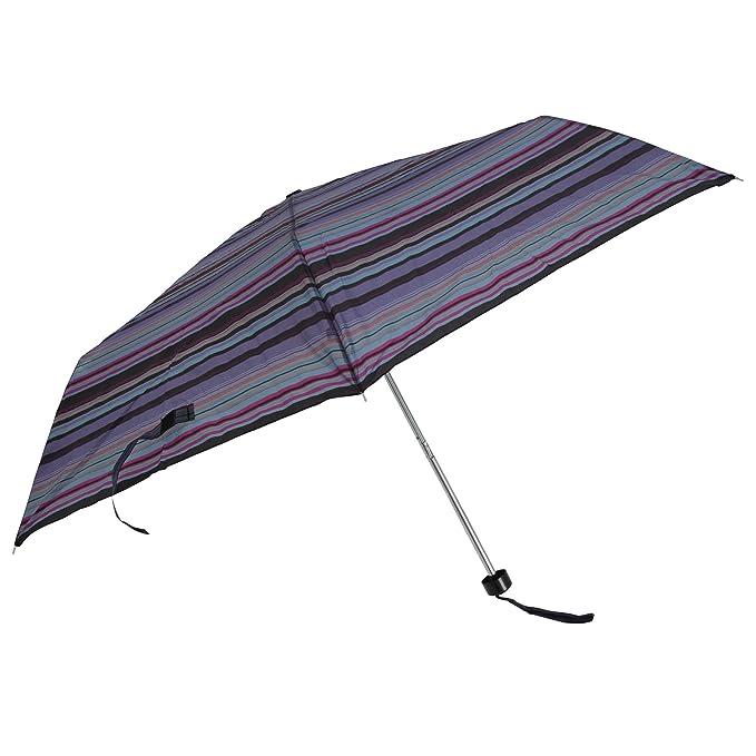 Drizzles - Paraguas mini plegable (Talla Única/Rayas Multicolor): Amazon.es: Ropa y accesorios