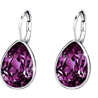 Xuping Sparkle Jewelry Halloween Hot Beauty Elegant Water Drop Crystals from Swarovski Luxury Decorate Hoop Earrings Prime Day Christmas Women Girl Gifts M12