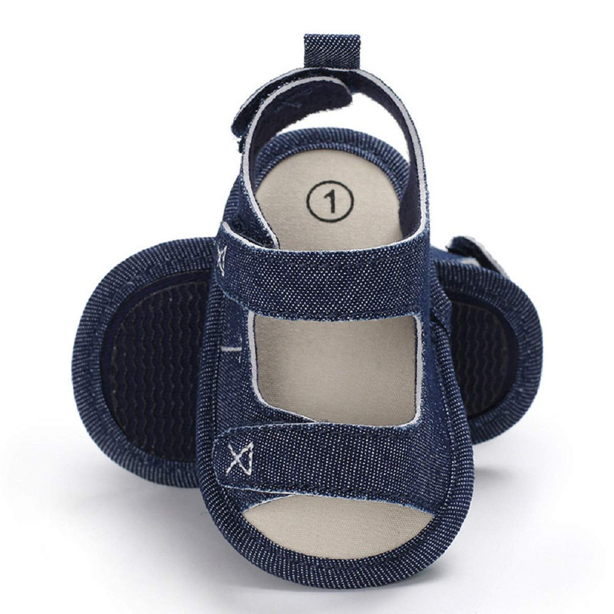 Infant Sandals FAPIZI Toddler Newborn Baby Boys Girls Embroidery Casual Soft Sole Anti-Slip Canvas Shoes