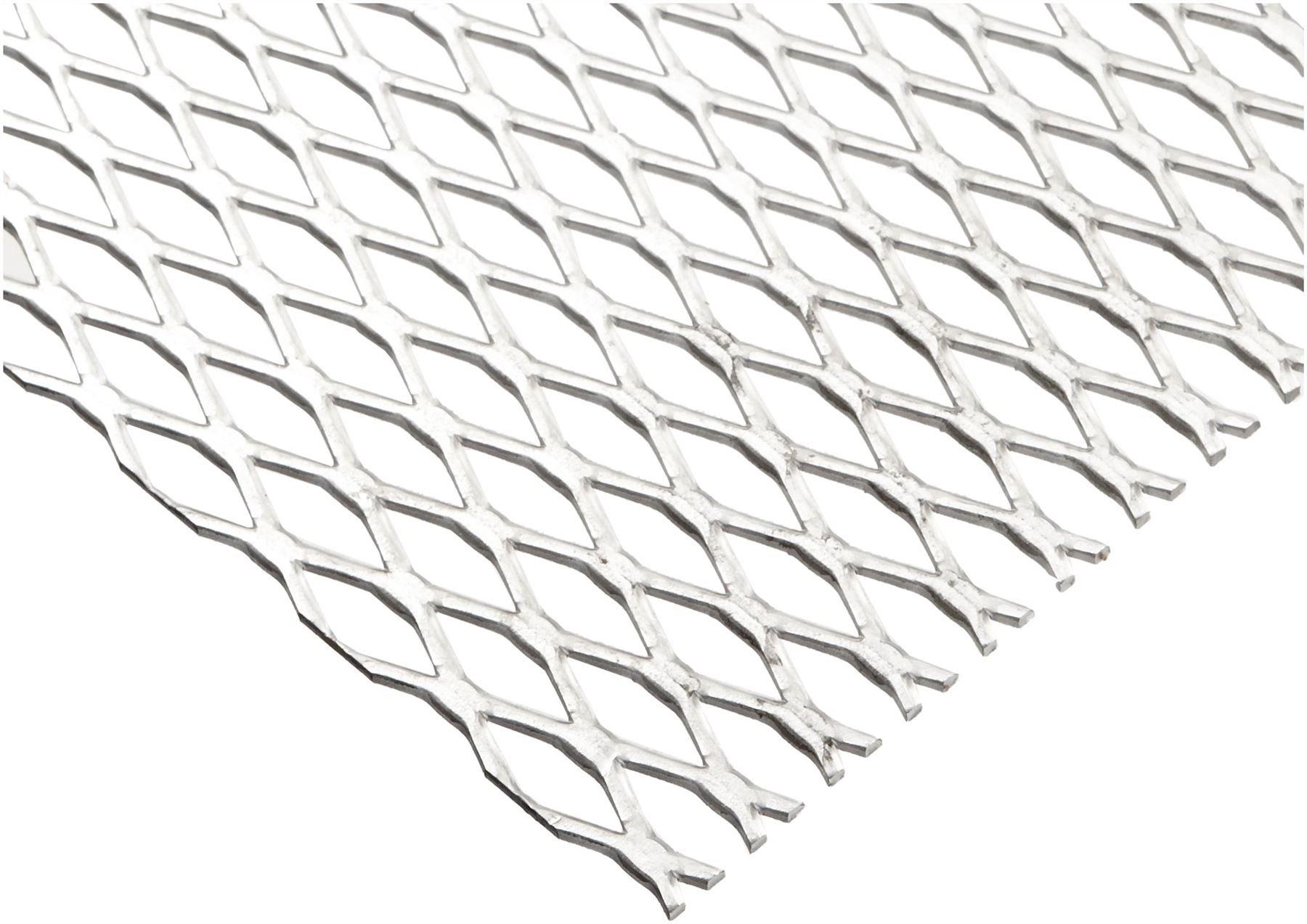 Online Metal Supply Steel Expanded Metal, Galvanized, Flattened Sheet 1/2#16.050'' x 24'' x 24''