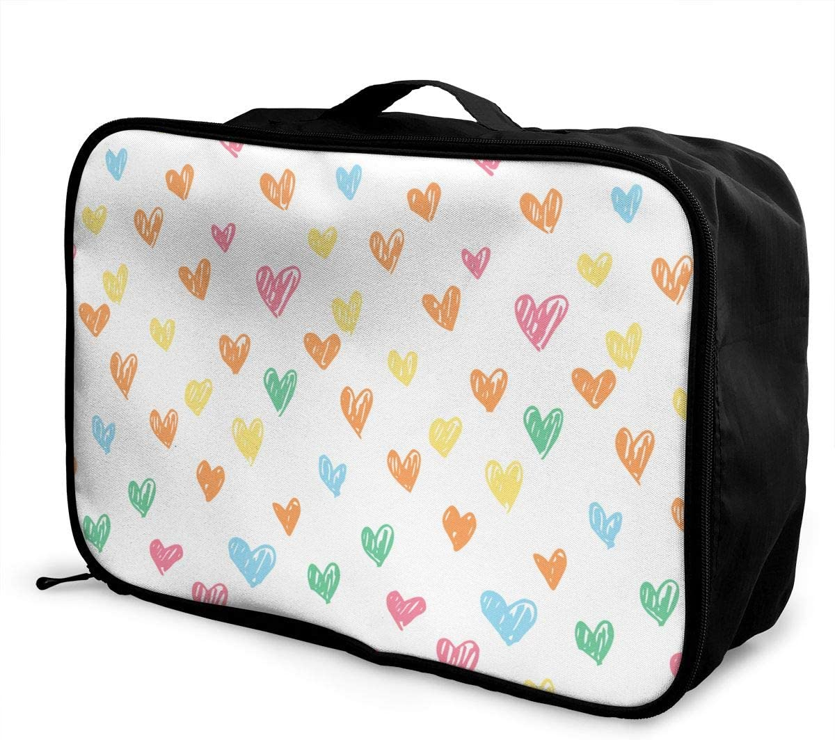 Love Travel Carry-on Luggage Weekender Bag Overnight Tote Flight Duffel In Trolley Handle