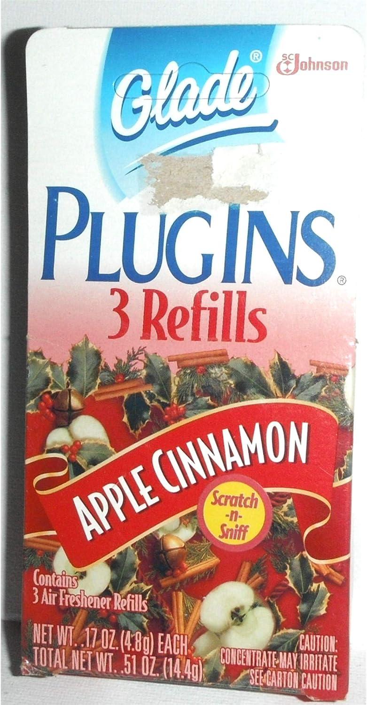 Glade PlugIns Gel Refills Apple Cinnamon, 3 count box for Glade Plugins Gel Warmer Unit