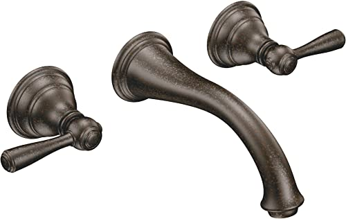 MOEN T6107ORB Kingsley Two Handle Wall Mount Bathroom Faucet, Valve Required, Oil Rubbed Bronze