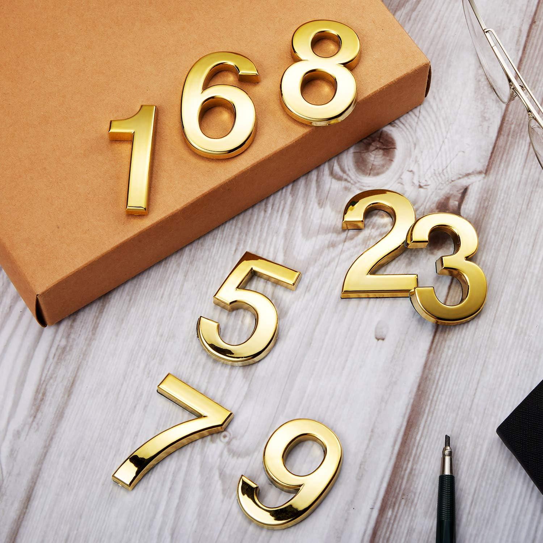 20 Pi/èces 2 Pouces Num/éros de Bo/îte aux Lettres 0-9 Num/éros dAdresse Num/éros de Porte Auto-Adh/ésifs Num/éros de Bo/îte aux Lettres R/éfl/échissants pour Maison Bo/îte aux Lettres