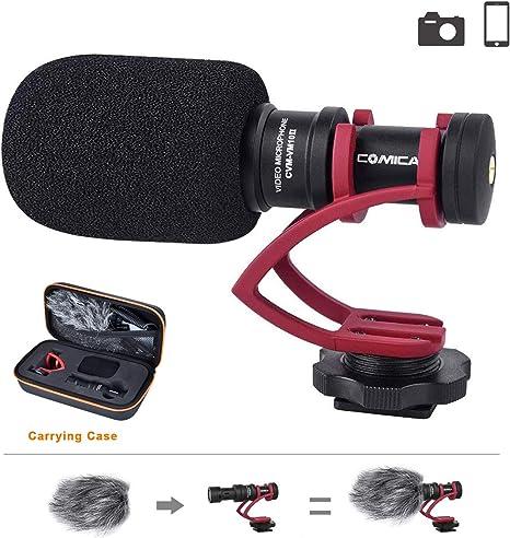 Comica CVM-VM10IIB Cardioide Condensador Escopeta Video Micrófono ...
