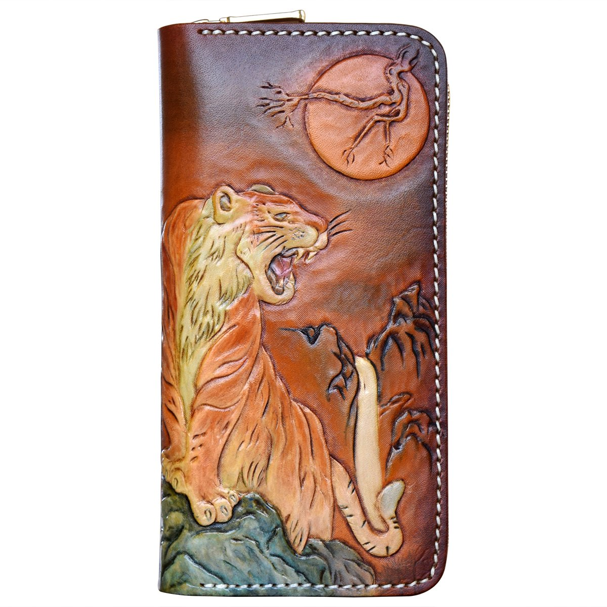 OLG.YAT Vegetable tanned leather Retro Genuine Leather Men's Wallets WLPDLH by OLG.YAT