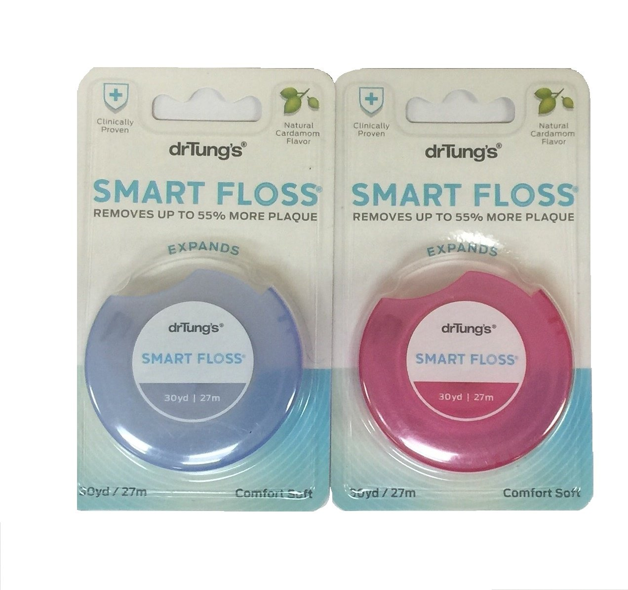 Dr Tungs Smart Floss -- 30 Yards - 2pc Color May Vary