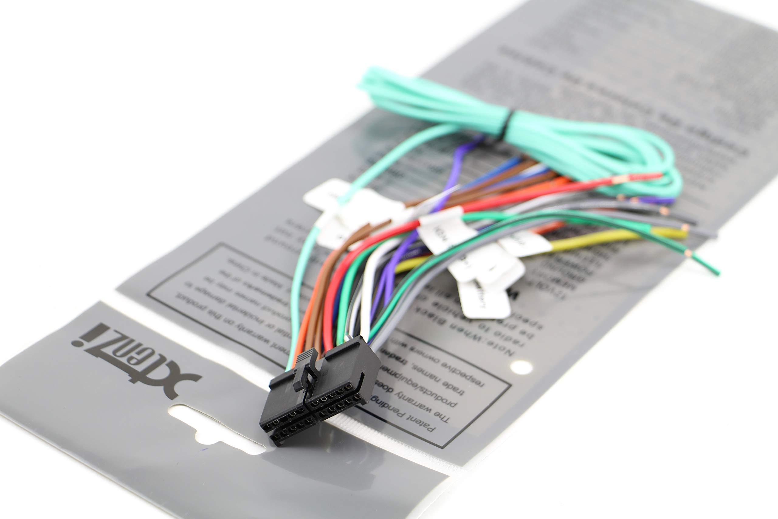 Xtenzi 20Pin Radio Wire Harness for Dual XDVD236BT,XDVD1265BT,XDVD1262,XDVD256BT
