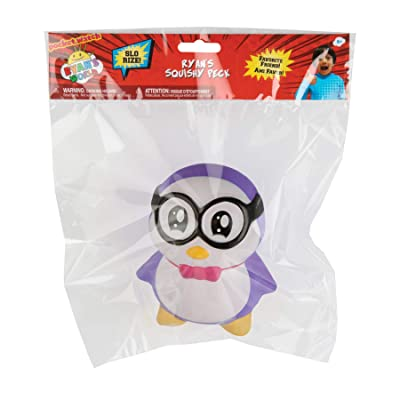 Orb Toys Ryan's World Sqiushy Peck, Purple, White, Black, Yellow, Red: Toys & Games