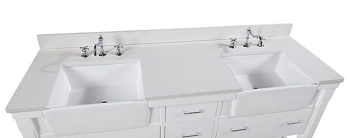 Amazon.com: Charlotte 72-inch cuarto de baño vanidad (cuarzo ...