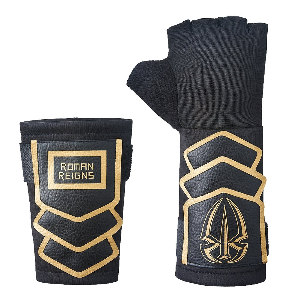 Roman Reigns WWE Superman Punch Glove Wristband Set -Gold