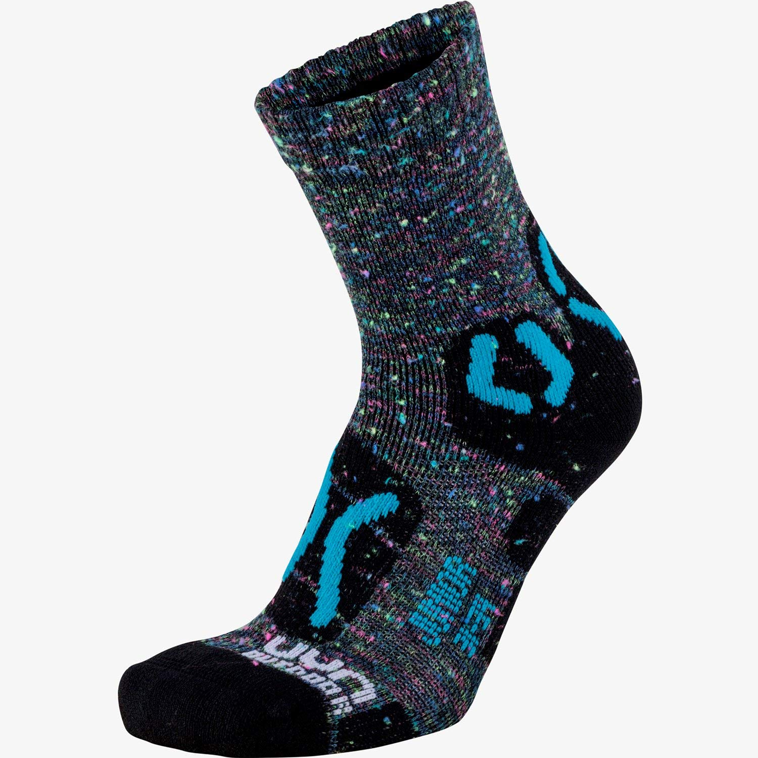 UYN Trekking Outdoor Explorer Kids Walking Socks UK 13 (Jnr) - 3 Grey Multicolour Turquoise by UYN Sports