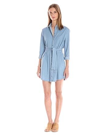 82b7163e5a The Fifth Label Women s Blue Eyes Denim Belted Shirt Dress