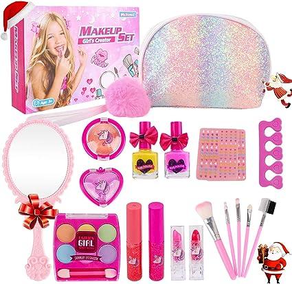 Amazon.com: Kit de maquillaje para niña, juego de maquillaje ...