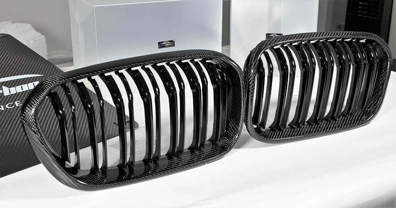 Max Auto Carbon Nieren Kühlergrill Gitter Passend Für F20 F21 M135i M140i Lci Brilliantes Schwarz Auto