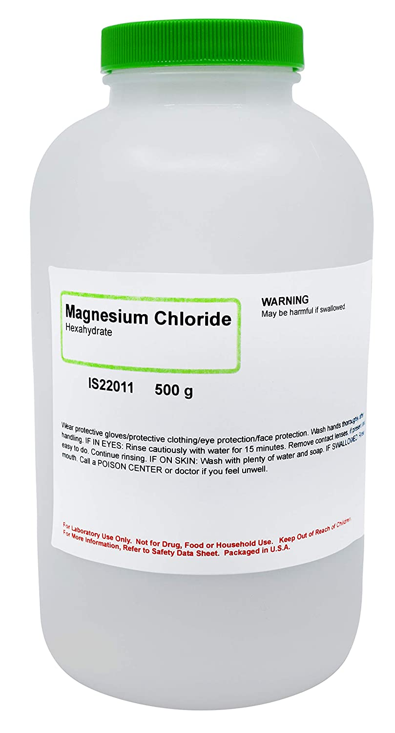 Magnesium Chloride, 500g - Laboratory Grade - Metal Precursor - The Curated Chemical Collection by Innovating Science