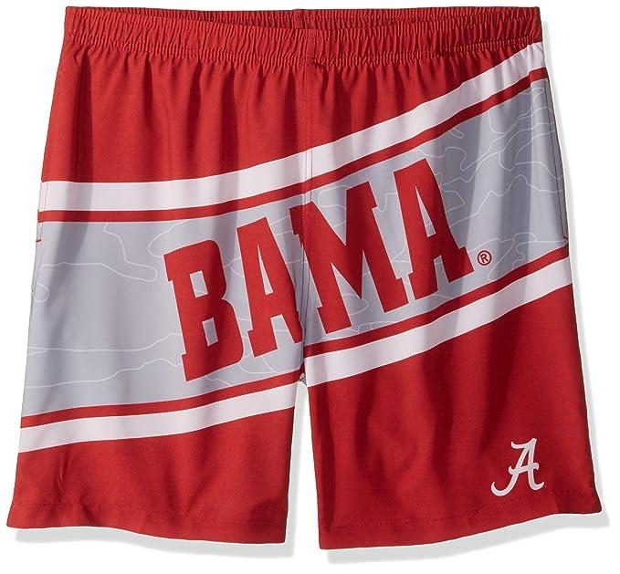 "e5bd024fd9 FOCO NCAA Alabama Crimson Tide Mens Big Logo 5.5"" Inseam Swim Suit  TrunksBig Logo 5.5"""