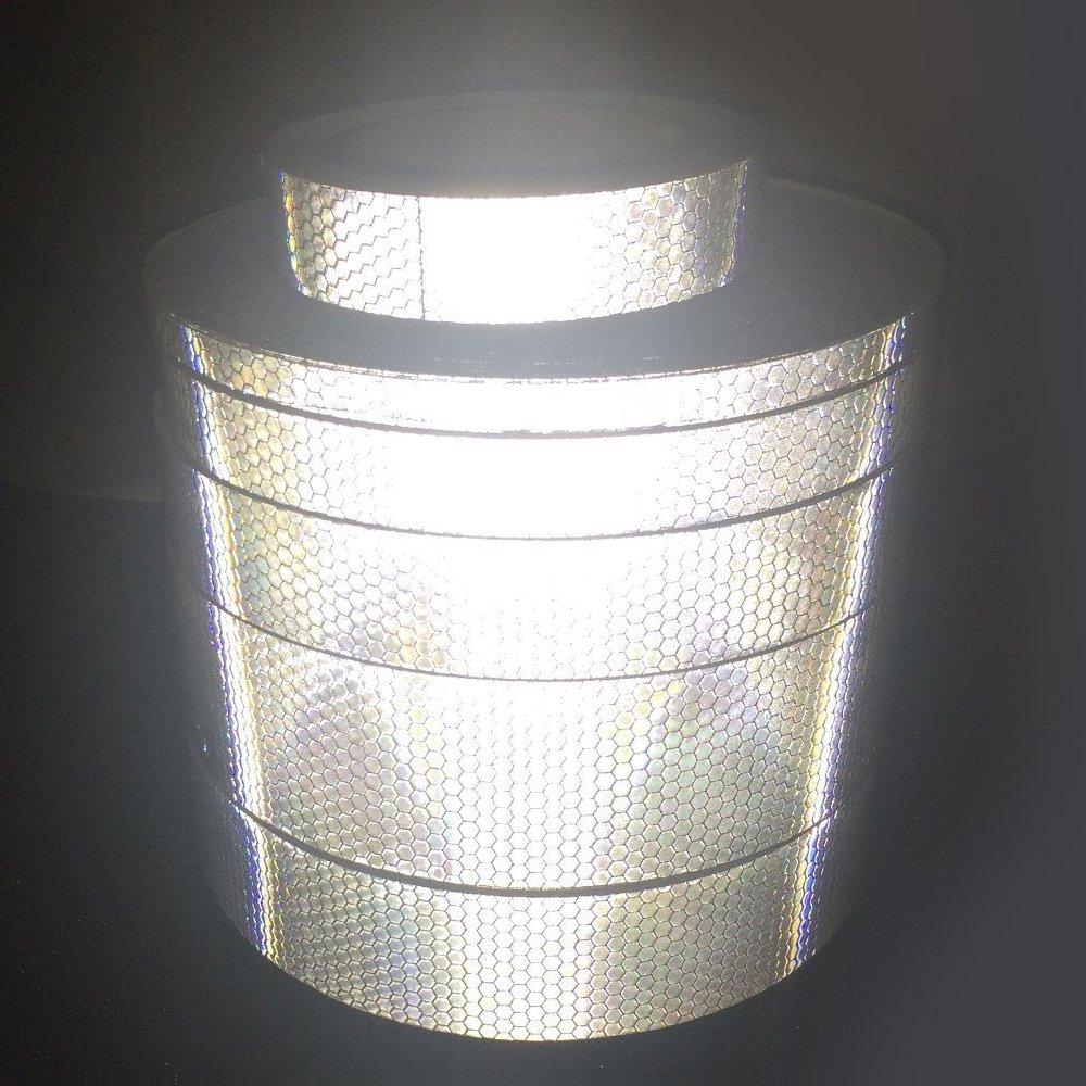 Maiqiken 1 Rolle Reflektor Streifen Fluoreszenz Gr/üne Selbstklebende F/ür Auto LKW Anh/änger Sicherheit Warnung Reflektorband Tape Aufkleber 5CM x 3M
