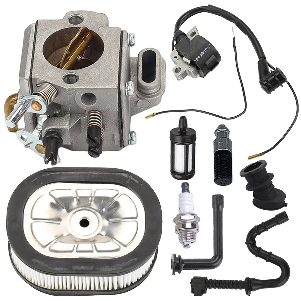 Harbot MS460 Carburetor Carb with Ignition Coil Tune Up Kit for Stihl 044 046 MS440 MS 460 Chainsaw Parts by Harbot