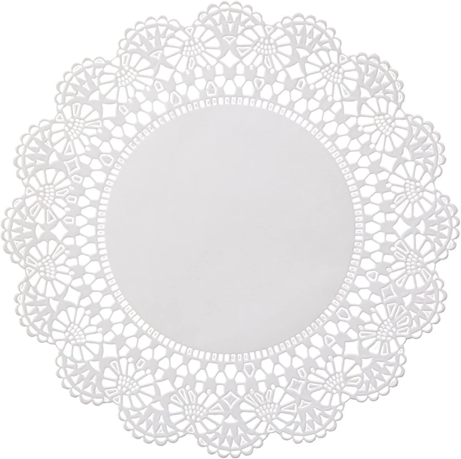The Baker Celebrations 200 White Round Paper Lace Doilies - 6 inch - Add an Extra Touch to Your Baked Goods