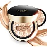 AGE 20's Signature Intense Full Coverage 71% Essence Cushion Foundation, Sunscreen Korean Makeup SPF 50+, Refill #21 Light Be