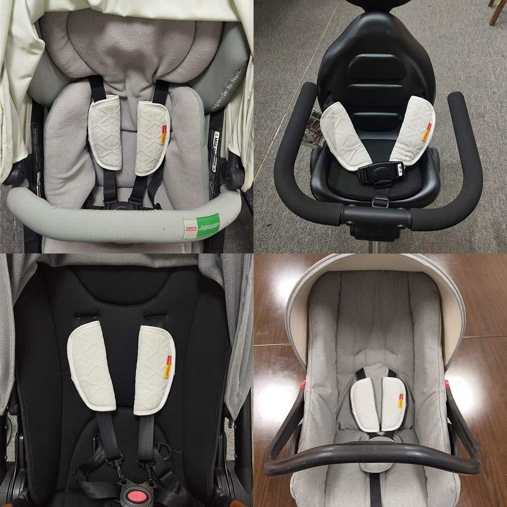 black Couvre-sangles de poussette pour b/éb/é Grip Protector Remplacement de la poussette Main courante Gant pour la main Infant Toddler Landau Bumper Poussette Bar Poign/ée Manche