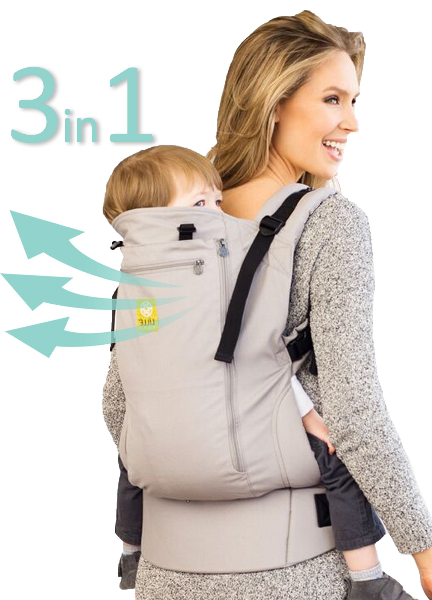 LILLEbaby 3-1 CarryOn All Seasons Toddler Carrier - Stone