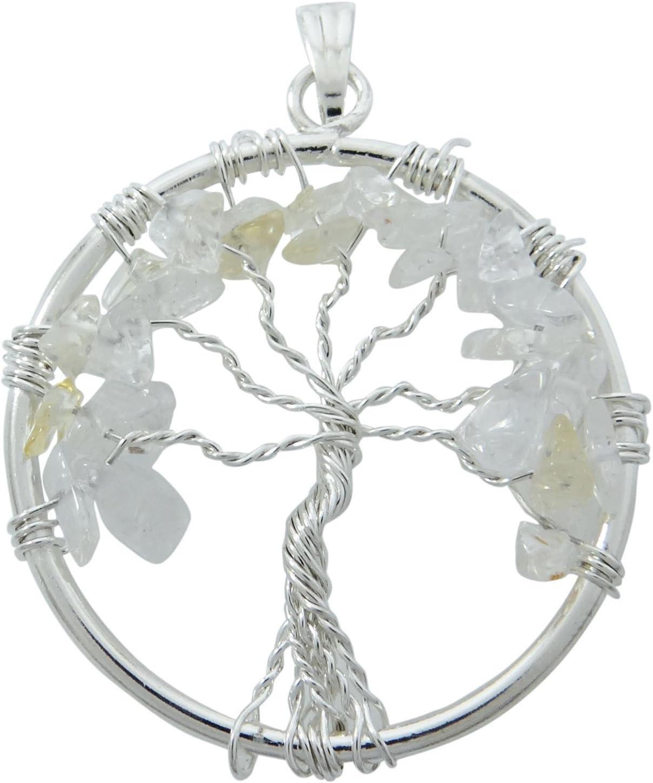 Harmonize Árbol de Cuarzo de Regalo Vida Espiritual Chakra Piedras Preciosas Colgante Chips Reiki curación de Cristal