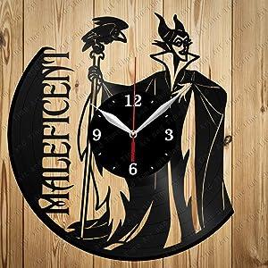 Vinyl Maleficent Clock Art Decor Home Wall Clock Black Original Gift Unique Design