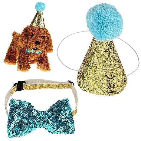 Ogquaton Gorros de cumpleaños Mascotas, Perros y Gatos ...
