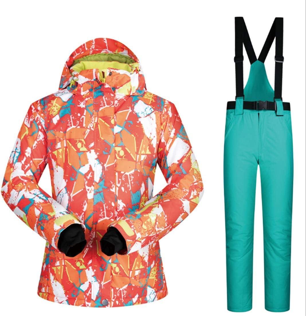 Sceliny 女性のスノーシューズウィンタースキージャケットとズボンはゼロコートの下に設定 (色 : 07, サイズ : S)  Small