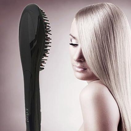 Cepillo alisador de cabello profesional JIAHAO HOT, con pantalla ...