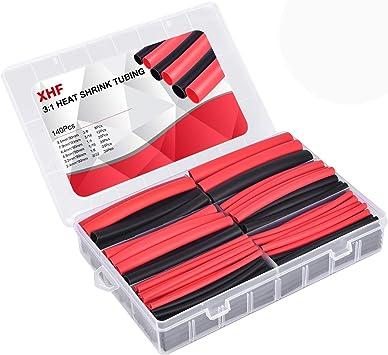 """42 ft 3:1 Heat Shrink Tubing Assortment Kit 6 Size Black,3//16/"""" 1//4/"""" 3//8/"""" 1//2/"""" 1/"""""""
