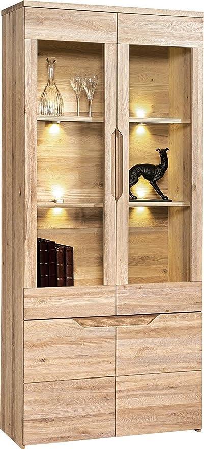 Mobile da soggiorno, vetrina, larghezza 90 cm, Legno ...