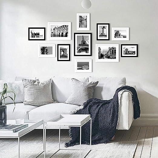 Pared de Fotos En Blanco y Negro 11 Caja Pared de Fotos Marco de ...